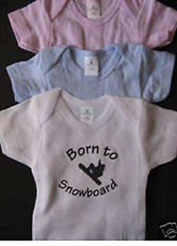Born to snowboard infant one piece snowboarding - Onesie Snowboarding