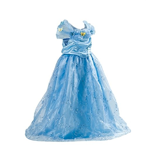 Sophiashopping 2017 Princess Cosplay Dress Halloween Party Costumes for (Cinderella 2017 Halloween Costumes)