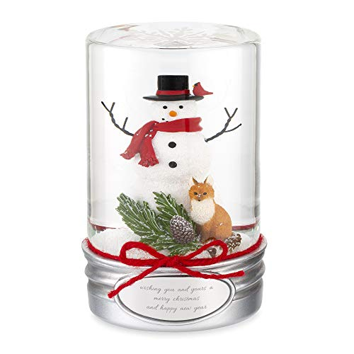 Things Remembered Personalized Snowman Mason Jar Snow Globe with Engraving Included (Snow Jar Globe Mason)