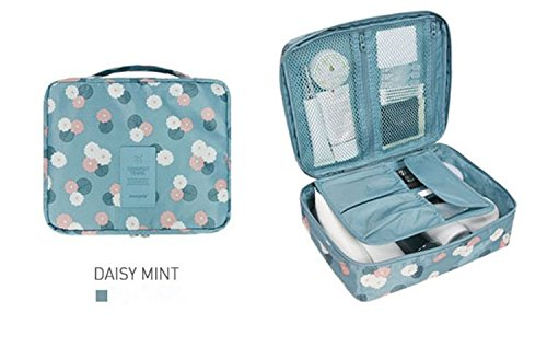 Portable Toiletry Bag Multifunction Household Cosmetic Pouch Personal Organizer Storage Bag Travel Daisy Blue from Passionate Adventure