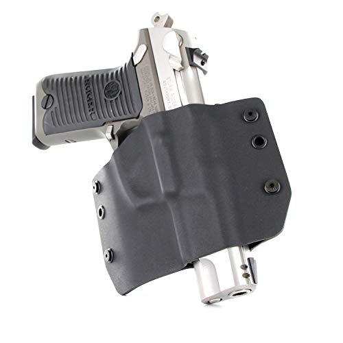 Infused Kydex USA OWB Basic Range Holster - Matte Black (Right-Hand, Glock 17,19,22,23,25,26,27,28,31,32,34,35,41 - Gen 3-5)