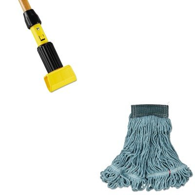 KITRCPA152GRERCPH216 - Value Kit - Rubbermaid Web Foot Wet Mop (RCPA152GRE) and Rubbermaid-Gripper Wet Mop Handle (RCPH216) by Rubbermaid