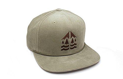 Corduroy Hat - Mountains Forests & Rivers - Men's/Unisex Corduroy Hat - Adjustable Back
