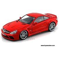 79161R Motormax - Mercedes-Benz SL65 AMG te18wxk7 Black Series Hard Top (1/18 scale diecast model car, Red) 79161 u99ah1695 diecast car model Mercedes Benz SL65 AMG Black Seri