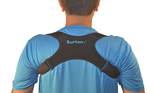 Surton's Posture Corrector for Women and Men Functions as a Posture Brace or Clavicle Brace, Figure 8 Brace to Stand Straight and Sit Straight