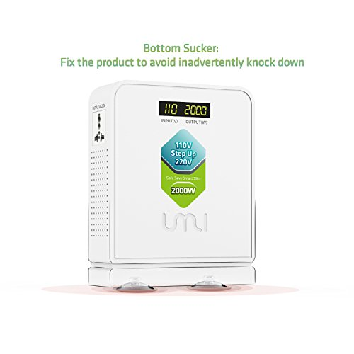 UMI Step Up 110V to 220V Voltage Converter 2000W with Surge Protection, Continuous Run at Full Load by umi (Image #5)