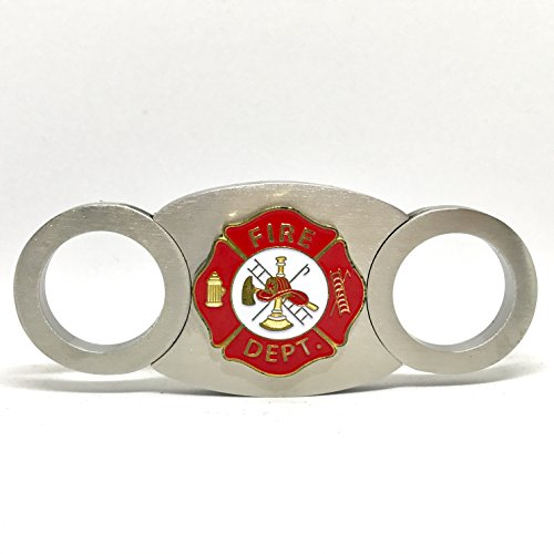 (Fireman's Cigar Cutter - Double Guillotine Blades - in Gift Box)