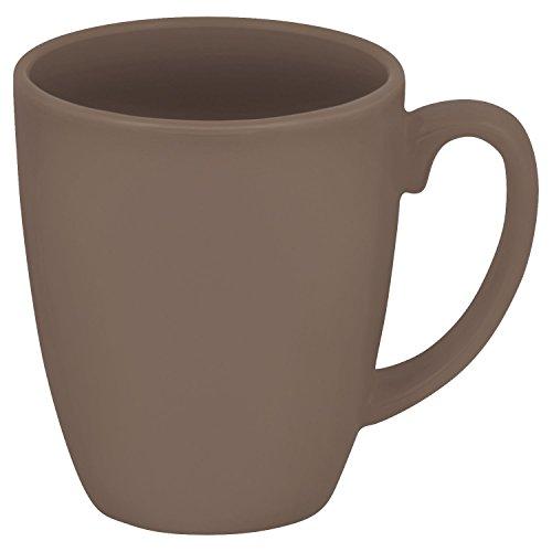 Corelle Livingware 11-Oz Stoneware Mug, Taupe (Set of 4)