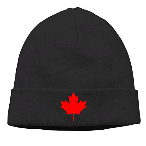 Cheap Costumes Canada (Unisex Canada Maple Leaf Cotton Hedging Hats Soft Warm Beanies Caps,One Size)