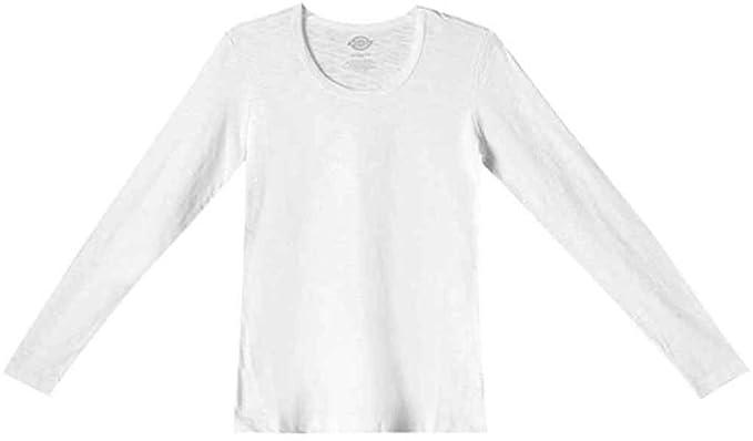 Dickies Medical Scrubs 84769 Women s Long Sleeve Crew Neck Tee White Small 16043ef61