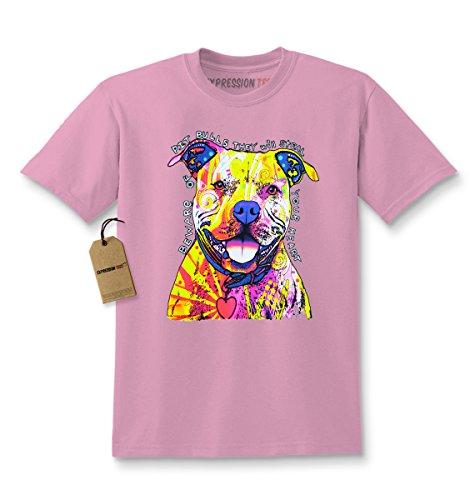 Expression Tees Kids Beware of Pit Bulls T-Shirt Small Light (Pit Bull Girl)
