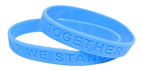 - Light Blue Ribbon Awareness Silicone Bracelet Buy 1 Give 1-2 Bracelets for $8.99