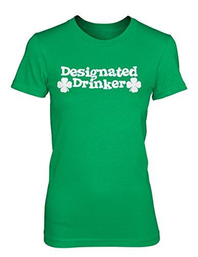 [Designated Drinker - St Patricks Day GIRLS / JUNIORS T-shirt (XL, KELLY GREEN)] (Designated Drinker)