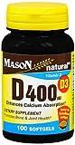 Cheap Mason Natural D 400 IU – 100 Softgels, Pack of 2