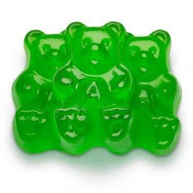 FirstChoiceCandy Albanese Gummy Bears (Green Apple, 1 LB) -
