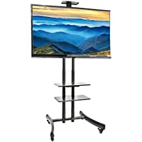 VIVO TV Cart for LCD LED Plasma Flat Panel Stand Mount w/ Mobile Wheels fits 30 to 70 Screens (STAND-TV06G)