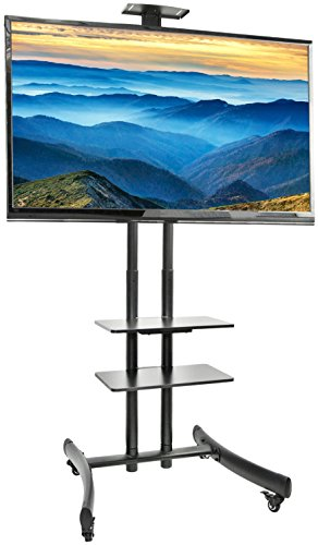 VIVO TV Cart for LCD LED Plasma Flat Panel Stand Mount w/ Mobile Wheels fits 30″ to 70″ Screens (STAND-TV06G)