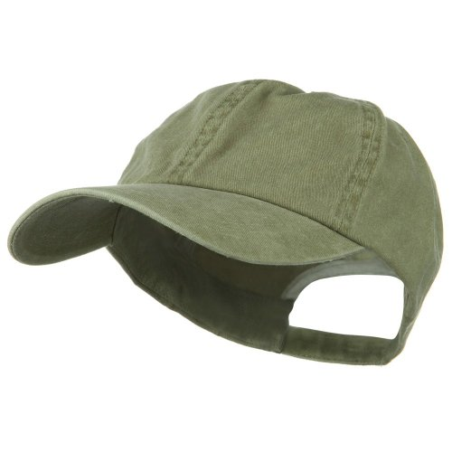 Big Bill Khaki (New Big Size Washed Cotton Ball Cap - Khaki (For Big Head))
