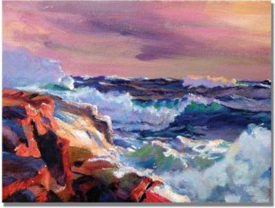 Surf Crashes by David Lloyd Glover, 18x24-Inch Canvas Wall Art