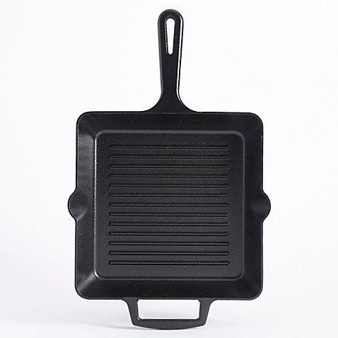 Artisanal Kitchen Supply 10-Inch Pre-Seasoned Cast Iron Square Grill Pan
