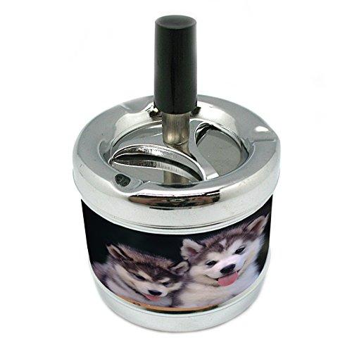Designer Ashtray - Dog alaskan malamute 02 Stylish Designer Spin Ashtray