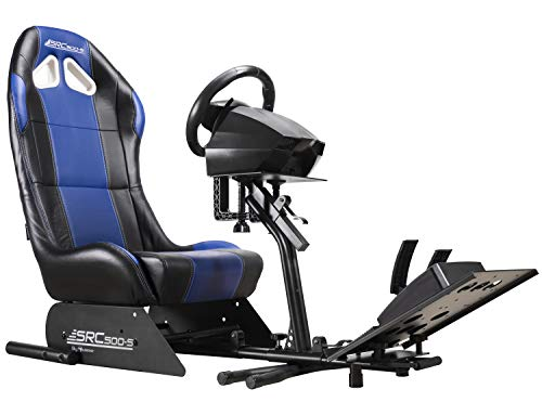 - Subsonic Racing Wheel Stand cockpit Seat with Support for Steering Wheel and Pedals Unit, SRC 500 S Simulation Bucket Seat for PS4, PS4 Pro, Xbox One, Xbox One S and PS3