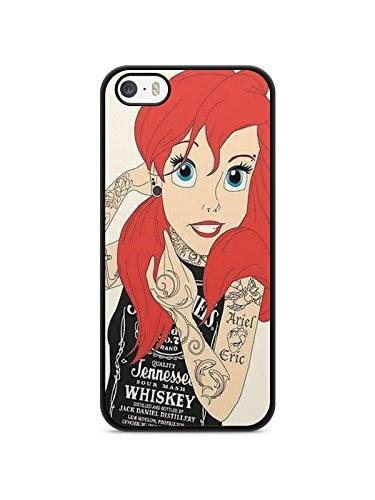 Coque Iphone 5c Ariel petite sirene Disney Princesse Amour Valentin princesse tatoué Punk ariel white snow Alice REF11040