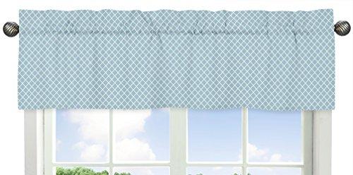 Blue Toile Nursery (Blue Lattice Window Valance for Woodland Animal Toile Collection)