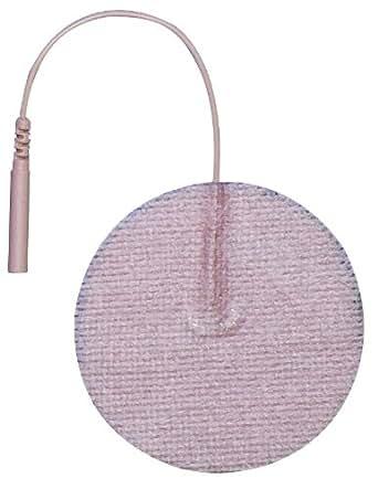 "3B Scientific W63205 Round Comfort-Stim Elite Tan Spunlace Electrodes, 2"" Diameter"