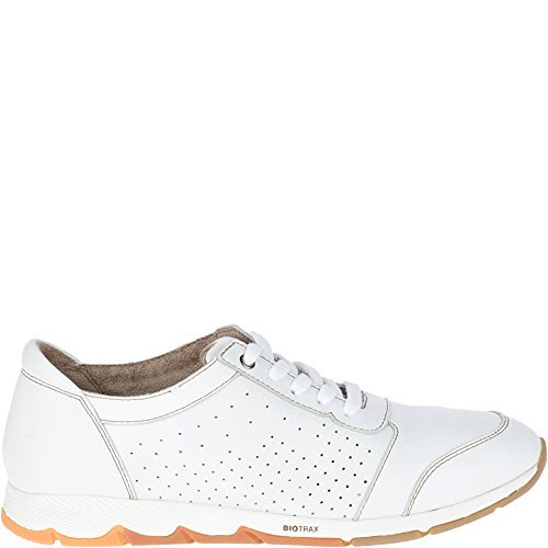 Hush Puppies Womens Cesky Perf Oxford White Leather 9 M - Puppies Oxford Hush Heels