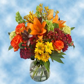 GlobalRose Fall Vase Flower Arrangements by GlobalRose