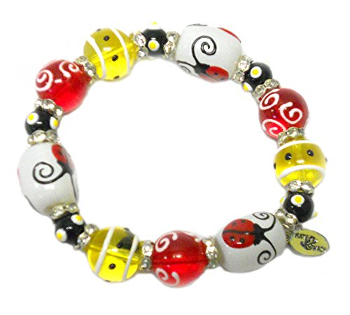 Kate & Macy Hand Painted Glass Bead Bracelet - Lucky - Macy's Glasses