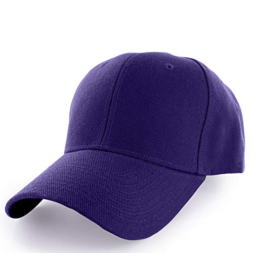 (KANGORA Plain Baseball Cap Adjustable Men Women Unisex | Classic 6-Panel Hat | Outdoor Sports Wear (20+Colors) (Purple))