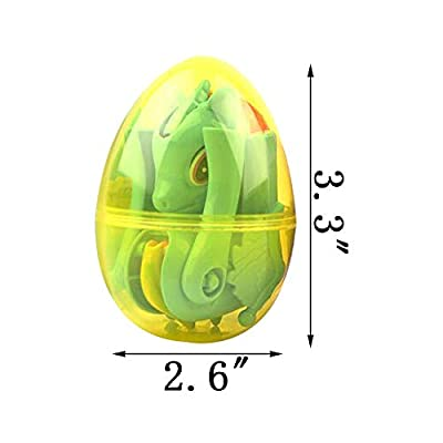 QINGQIU 4 Pack Jumbo Unicorn Deformation Easter Eggs with Toys Inside for Kids Boys Girls Easter Gifts Easter Basket Stuffers Fillers: Toys & Games