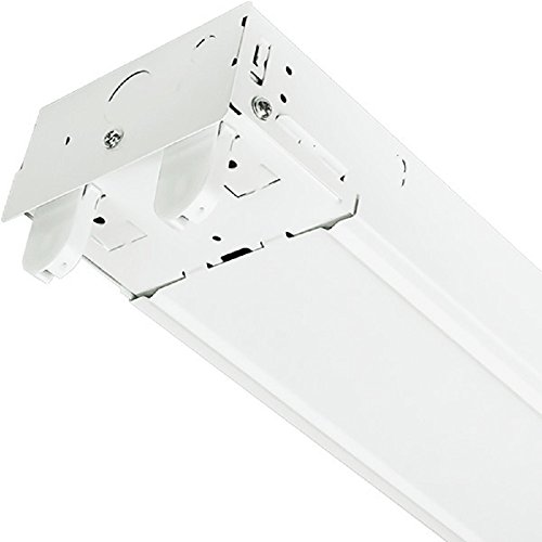 4 ft. LED Ready Suspended Strip Fixture 2 Lamp White Finish PLT TXFC232X1