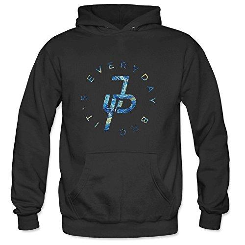 Aliensee Men's Jake Paul It's Every Day Van Gogh Pullover Hooded Sweatshirt M Black ()