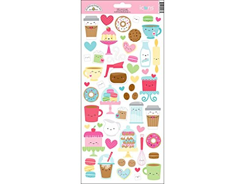 Doodlebug DOO5487 Cream & Sugar C&S Sticker Icons - Sugar Cookie Stickers
