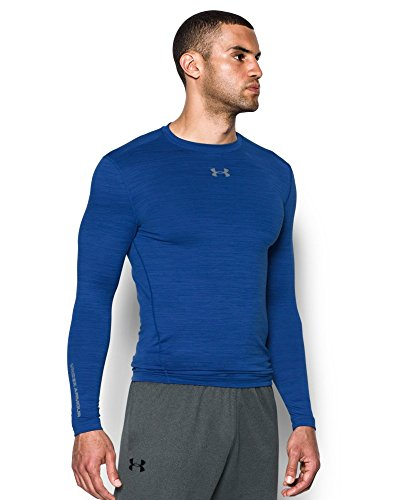 Under Armour Men's ColdGear Armour Twist Compression Crew, Royal/Steel, Small by Under Armour (Image #2)