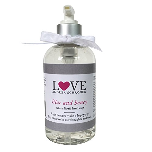 Lilac and Honey Natural Liquid Hand Soap 8 fl oz by Andrea Schroder