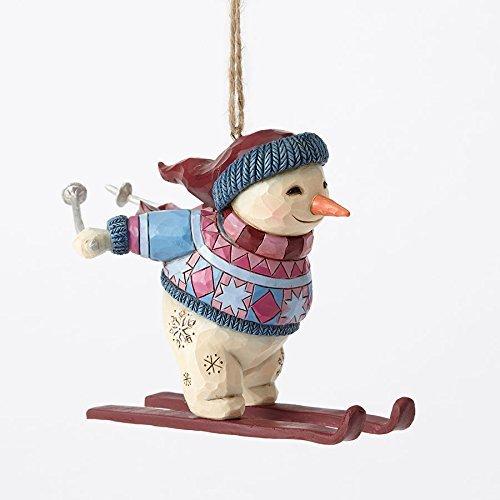 Heartwood Creek Jim Shore Hwc H/o Skiing Snowman Hanging Ornament (Skiing Snowman)