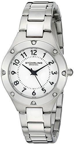 Stuhrling Original Women's 548.01 Symphony Quartz Stainless Steel Link Bracelet Watch