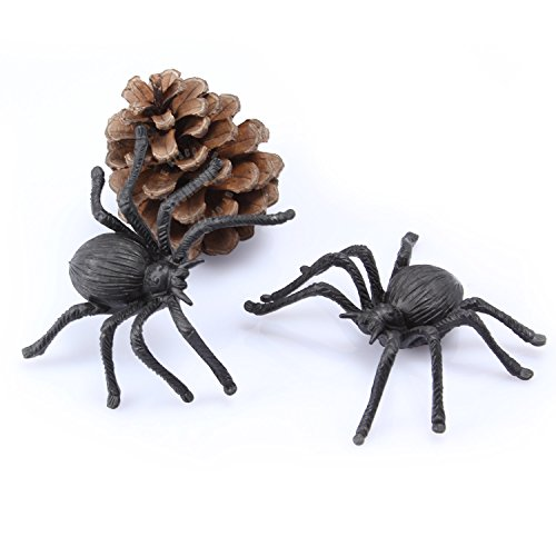 10PCS Prank Plastic Spiders
