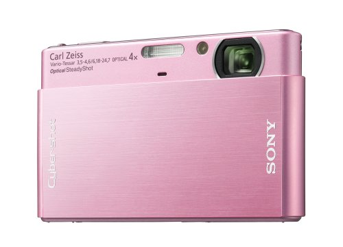 Sony Cybershot DSC-T77 10MP Digital Camera with 4x Optical Zoom with Super Steady Shot Image Stabilization (Pink)
