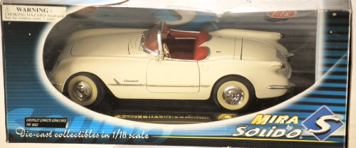 Solido, 1953 Chevrolet Corvette Convertible, White, 1:18,