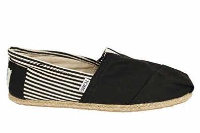 TOMS , Alpargatas de lona para hombre negro negro, color negro, talla 41.5