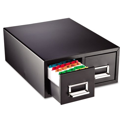 SteelMaster - Drawer Card Cabinet Holds 3,000 4 x 6 cards, 14 1/2 x 16 x 6 1/4 263F4616DBLA (DMi EA by STEELMASTER