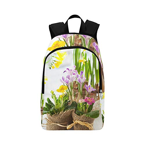 (VvxXvx Spring Yellow Flower Narcissus with Garden Casual Daypack Travel Bag College School Backpack for Mens and Women)