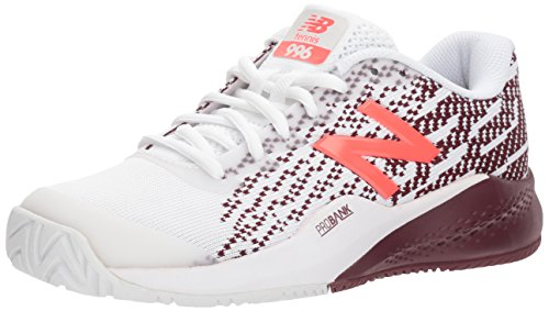 New Balance Women's 996v3 Tennis-Shoes,White/oxblood7.5 B US