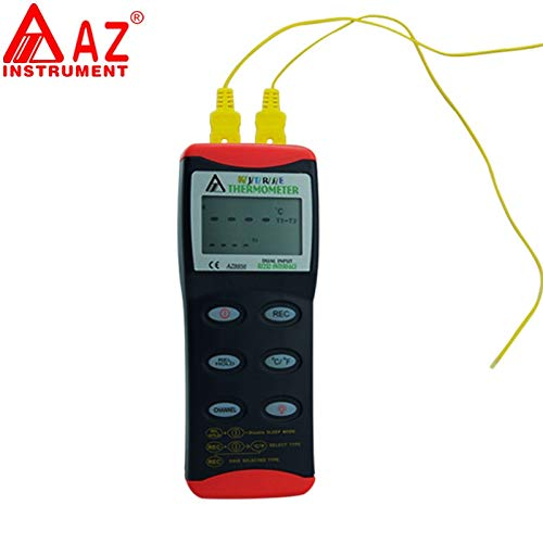K/J/T/R/S/E type Thermometer T1 T2 Channel Temperature Measurement Dual Input Thermocouple ()