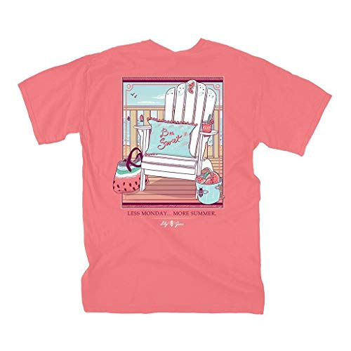 (Lily Grace Watermelon Chair - Salmon | Women's Topside Cotton T-Shirt)